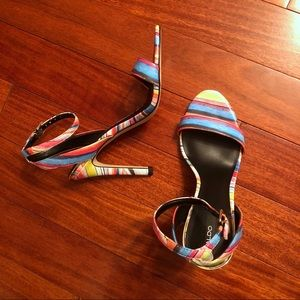 Aldo Rainbow Two Strap Stiletto Sandal